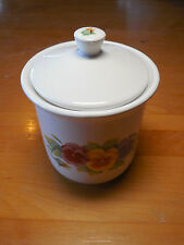 """Corelle Jay Import SUMMER BLUSH Coffee Canister w Lid Sealed 4 7/8"""" or Lid Only"""