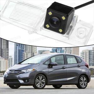 4 LED CCD Rearview Camera Reverse Parking Backup for 15-16 Honda Fit Hatchback