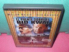 EL PUENTE SOBRE EL RIO KWAI - EDIC. 2 DVDS - HOLDEN - GUINNESS - 7 OSCARS