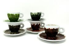Set of 5 Illy Espresso Cup & Saucer Francis Ford Coppola Texture of Home 2000