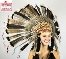 INDIAN HEADDRESS TURKEY FEATHERED!!!!CHEAPEST N FREE FREIGHT IN OZ