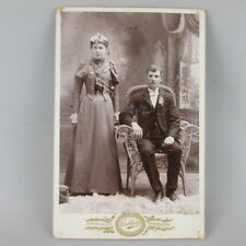 VTG Antique Studio Photo Cabinet Card Couple Spring Valley MN Minnesota
