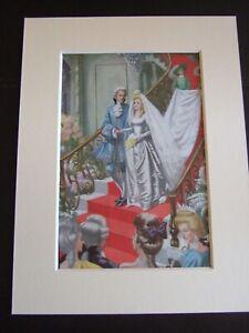 Vintage 1960s  Ladybird Book CINDERELLA  Print in Mount # 5