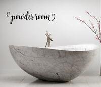 POWDER ROOM BATHROOM LETTERING QUOTE VINYL WALL DECAL FANCY WORDS BATH SOAK