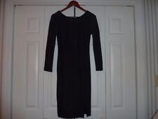 GEMMA CRUS Size XS LBD Sheath Dress Side Slit Back Zipper EUC