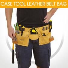 CASE TOOL LEATHER BELT BAG Adjustable For Carrying Hammer Measuring Tape HB6373
