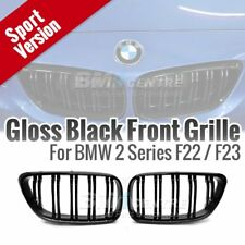 Gloss Black Dual Slats Fin Kidney Front Grille for BMW 2 series F22 F23 F87 M2