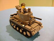 LEGO LOT #03 CUSTOM WW2 WORLD WAR 2 GERMAN LIGHT PANZER TANK WITH MINI FIGURE
