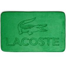 "NWT! Lacoste Green Croc Memory Foam Bath Mat Rug 21"" x 34"" Machine Washable"