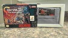 Contra 3 III: The Alien Wars (Super Nintendo) Comes w/ Box!!! TEST PROOF