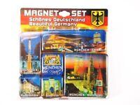 Marienplatz de Múnich Siegestor Germany Conjunto Imán Recuerdo, 6 Piezas Nuevo