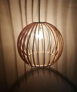 Pendant Light Wood Lamp Shade Lighting Ceiling Fixture Glowing wings Modern lamp
