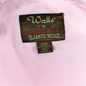 Walls Ranch Wear Mens XL Button Up Western Shirt Cotton Long Sleeve Pink