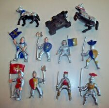 Safari Ltd Pvc Figures ~ Red & Blue Knights, Horses, Catapult Set