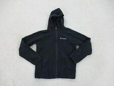 Columbia Sweater Girls Medium Black Gray Outdoors Fleece Hoodie Kids Youth