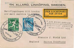 Luftpost  Nachtflug  Night flight 3 Amsterdam  London / Olympic Games 1928