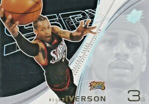 2002-03 Upper Deck SPx -  Allen Iverson #62 - Philadelphia 76ers