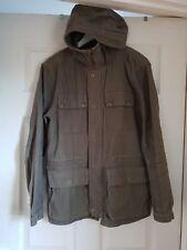 Pretty Green Hooded M65 Parka Jacket Khaki Size S