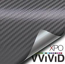 Gunmetal Gray 3D Carbon Fiber Vinyl Wrap, XPO by Vvivid FREE Shipping USA & Can