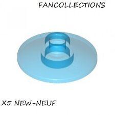 LEGO - x5 - Trans-Light Blue Dish 2 x 2 Inverted , 4740  NEUF