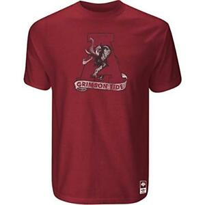 Alabama Crimson Tide Adidas Vintage Mascot Premium Slim Fit T Shirt