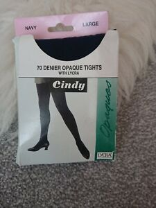 Tights Opaque Size Large Navy