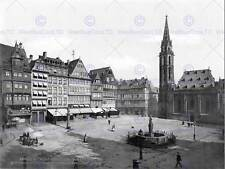 Roemerberg nikolaikirche Francoforte 1900 Old BW FOTO STAMPA POSTER 1666bwb