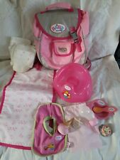 Baby born Back Pack With Changing Mat, Nappy, Potty & accessories. Hrs of fun.