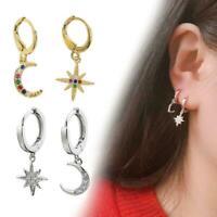 Mond Sterne Mode exquisite asymmetrische Kristall Ohrringe Stil Ohrringe Fr O8S7