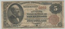MA  1882 $5 New Bedford,  Massachusetts  ch# 2262  ( only 2 Brown Back known)