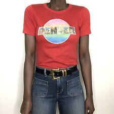 Vintage 70s 80s Red Denver Laminate Short Sleeve T-Shirt Small