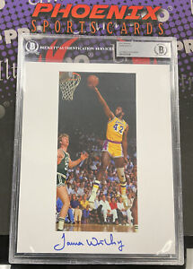 JAMES WORTHY Signed 8x10 Autograph Photo BECKETT Slabbed Authentic Auto