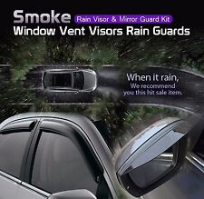 Smoke Window Vent Visor + Side Mirror Rain Guard 6P For TOYOTA 2007-2013 Corolla