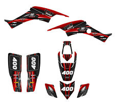 KFX 400 graphics or Suzuki LTZ400 kit 2003-2008 #1300 Red Free Custom Service