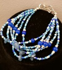 multiple strands. Heart Blue with