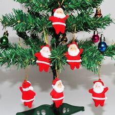 6Pcs Christmas Home Party Santa Claus Xmas Tree Hanging Ornaments Decorations