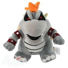 "Super Mario Bros Dry Bowser Bones Koopa Plush Doll Toy Figure Stuffed 10"" Gift"
