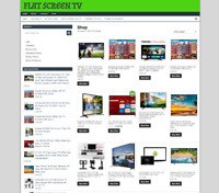 FLAT SCREEN TV UK WEBSITE fully stocked Ecommerce - One Years Hosting - Domain