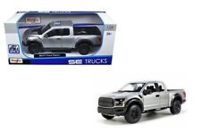1:24 Escala 2017 Ford Raptor 4x4 F150 Se Camioneta Plata Maisto Coche de Modelo