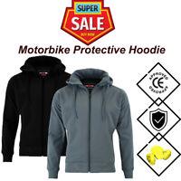 Motorcycle SOFT SHELL Waterproof Hoodie Armour Motorbike Textile Jacket Hood CE