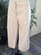 EDEIS pantalon femme coton melangé beige clair poches grande taille 48