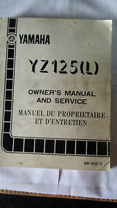Yamaha YZ125L YZ 127 L Owners and Service Manual 1974