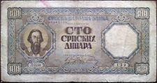 Serbia banknote - 100 dinara - 1943 - Saint Sava - Nazi Germany occupation - WW2