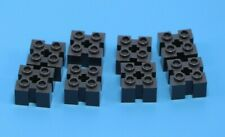 LEGO 2x2 Black Round Bricks w//Grille Profile Grooves  w//Cross New Lot Of 10