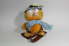 VTG 1981 FUN FARM DAKIN GARFIELD & COMPANY SKIER HAT SCARF SKIS KOREA NWT