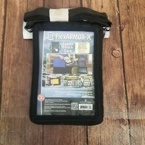 Flex Armor X  Black Tablet Touch Gear Protective Case With Belt Strap