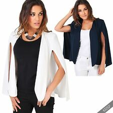 Viscose Patternless Blazer Coats & Jackets for Women