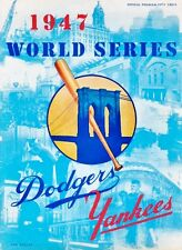 1947 WORLD SERIES PROGRAM PHOTO IN ALL ITS GREAT COLORS YANKEES WIN 4-3  8 x10