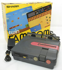 TWIN FAMICOM SHARP Console System Boxed AN-500B Tested New Rubber belt 448545