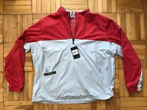 *Sz XXL* New Mens Nike Shield Victory Half Zip Golf Jacket, Gray Red BV0387 609